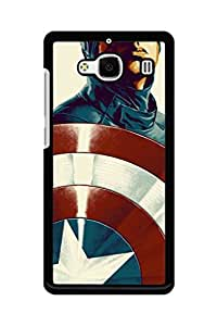 Caseque Sttim Captain America Back Shell Case Cover For Xiaomi Redmi 2s
