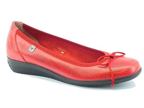 Ballerine Cinzia Soft per donna in pelle rossa (Taglia 37)