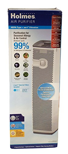 Holmes HEPA 3 Speed Tower Air Purifier + Allergen Remover (HAP9425W) (Air Purifier Sunbeam compare prices)