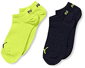 PUMA Jungen Sportsocken Invisible 2P, Lime Punch, 23-26, 271325