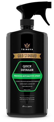 Quick Detailer - Mist and Wipe off Dust, Fingerprints and more while providing a protective seal against weather, contaminants. 18oz TriNova (Mcquires Cleaner Wax compare prices)