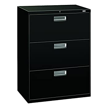 HON 673LP 600 Series 30-Inch by 19-1/4-Inch 3-Drawer Lateral File, Black