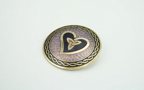 Lj Designs Celtic Wave, Heart And Trinity Brooch (Sg23)