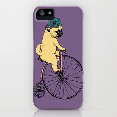 society6(ソサエティシックス) iPhone5/5sケースパグライド Pug Ride並行輸入品