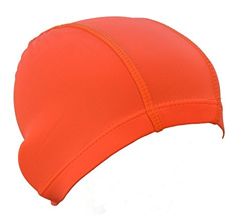 Aqua World's Children's Lycra Swimming Caps (Orange) - 1