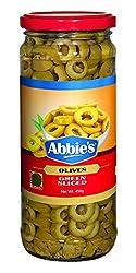 Abbie's Green Olive, Sliced, 450g