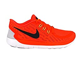 Nike Free 5.0 Youth Bright Crimson/Black/Orange Athletic Sneakers