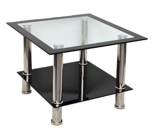 Ts ideen 8810 tavolino quadrato basso in acciaio inox for Beistelltisch quadrato
