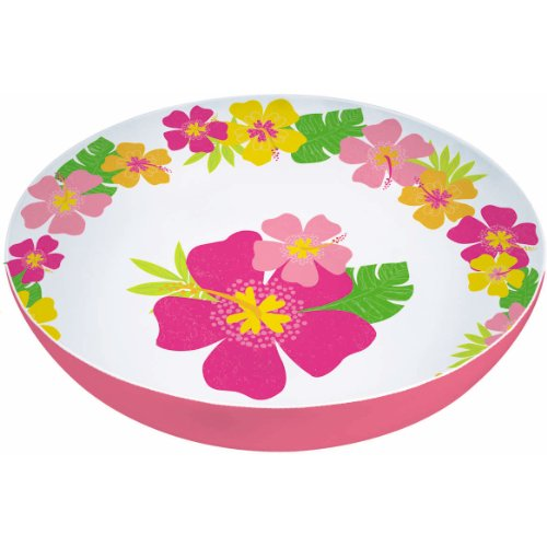 Plastic 11 3/4in Floral Paradise Warm Bowl