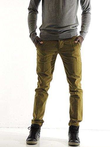Pantalone uomo Entre Amis chino A158201188 verde oliva 30