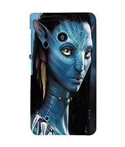 Fuson 3D Printed Avatar Designer Back Case Cover for Nokia Lumia 530 - D1075