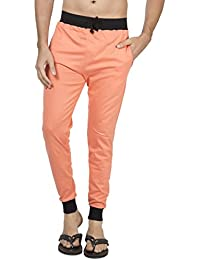 Clifton Men's Ribbed Slim Fit Track Pant - Deep Orange