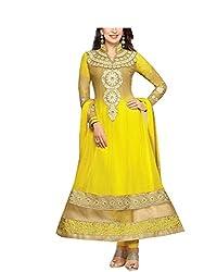 Exollent Services Fashionable Georgette Unstiched Anarkali Dress Material
