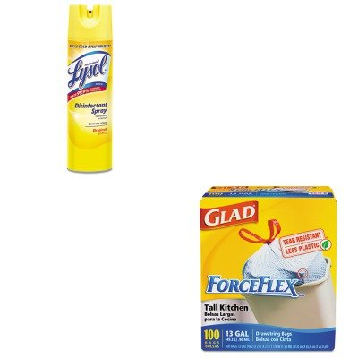 KITCOX70427RAC04650EA - Value Kit - Professional LYSOL Brand Pro Disinfectant Spray (RAC04650EA) and Glad ForceFlex Tall-Kitchen Drawstring Bags (COX70427)