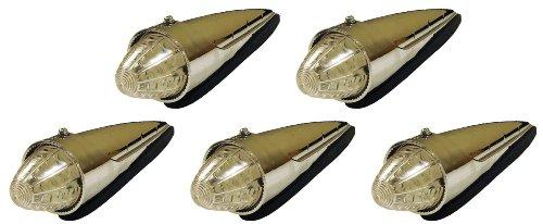 5 Pack Of Clear Amber Led Torpedo Cab Marker Lights Peterbilt