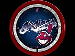 Cleveland Indians Plasma Neon Clock by Authentic Street Signs