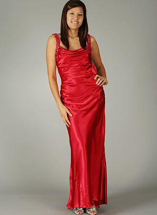 SATIN JEWEL DRESS for Bridesmaid Formal Prom