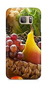 Amez designer printed 3d premium high quality back case cover for Samsung Galaxy S7 Edge (Fruit Ripe Assorted)