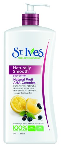 St. Ives Naturally Smooth Body Lotion, Fruit Aha Complex, 21 Ounce