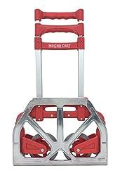 Magna Cart Personal 150 lb Capacity Aluminum Folding Hand Truck (Red)