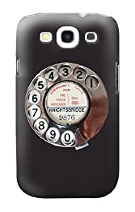 S0059 Retro Rotary Phone Dial On Case Cover for Samsung Galaxy S3