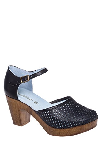 Sadie Perforated Upper High Heel Clog