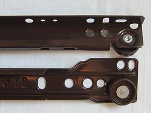 Schubladenschienen, braun, 300 mm, 35 kg belastbar, für 1 Schublade, 3832392