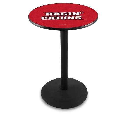 """Holland Bar Stool L214B University of Louisiana At Lafayette Officially Licensed Pub Table, 28"""" x 42"""", Black"""