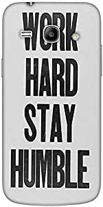 Snoogg Work Hard Stay Humble Solid Snap On - Back Cover All Around Protection...