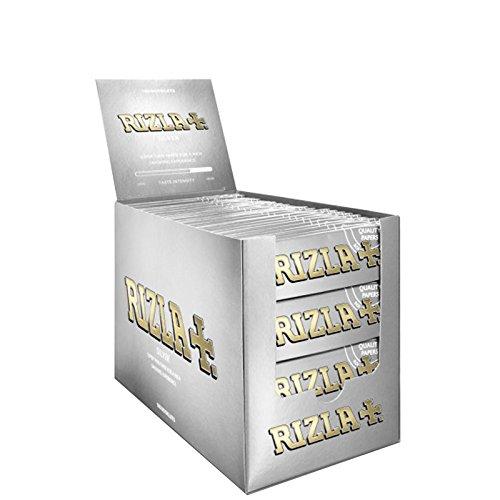 5000 CARTINE RIZLA SILVER ARGENTO CORTE ROLLING PAPER BOX DA 100 ASTUCCI