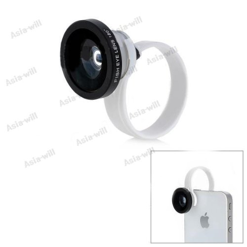 Universal Clip-On Wide Angle Macro Lens For Iphone 5 / For Ipad 4 - Black + Silver