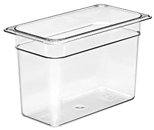 Cambro Camwear 38CW135 Food Pan, 1/3 by 8-Inch, Clear