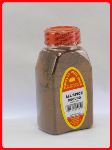 ALL SPICE GROUND FRESHLY PACKED IN LARGE JARS,