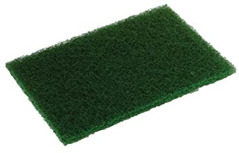 "Glit 20954, TN Polyester Blend Green 86-A Heavy Duty Scouring Pad, Synthetic Blend Resin, 9"" Length x 6"" Width  (Case of 60)"