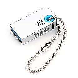 Trusda U85 Best USB Storage USB 3.0 Flash Drives Super Mini High Speed Metal Usb Stick Pen Drive (64GB)
