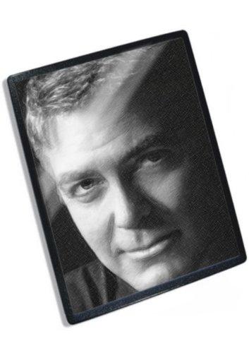GEORGE CLOONEY / ジョージ・クルーニー - オリジナルアートマウスマット(アーティストによって署名されました) #js004