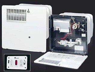 Atwood 96164 Gch6A-10E Lp Gas 220 Volt Electric With Heat Exchanger Electronic Ignition Polar White Door Dsi 6 Gallon