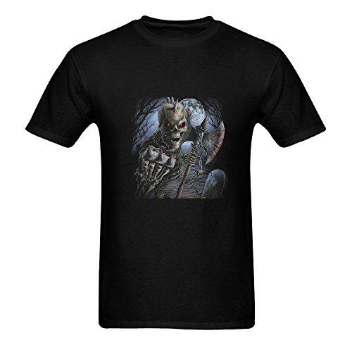 Mr.love Men's Personalized Graphic 3D Zombies Cotton T-shirts Size XL,color Black