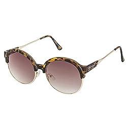 Chevera StyleCrush Brown Round Sunglasses