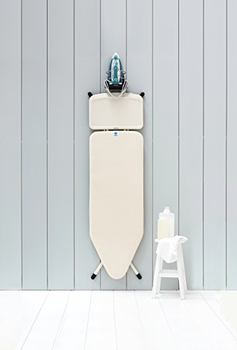 brabantia wall mounted iron rest and hanging ironing board holder gray 385742 ebay. Black Bedroom Furniture Sets. Home Design Ideas