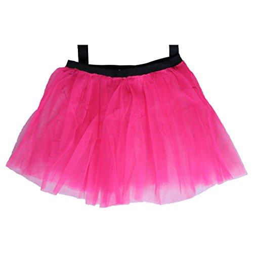 Neon Pink 80's Tutu Skirt L