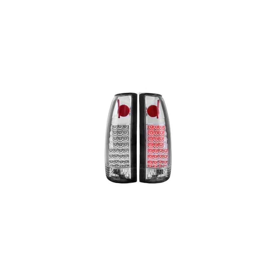 Anzo USA 311005 Chevrolet Chrome LED Tail Light Assembly   (Sold in Pairs)