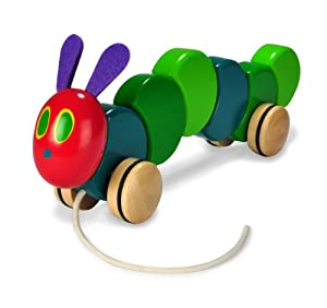 Kids Preferred The World of Eric Carle The Very Hungry Caterpillar Toy, Wood Pull