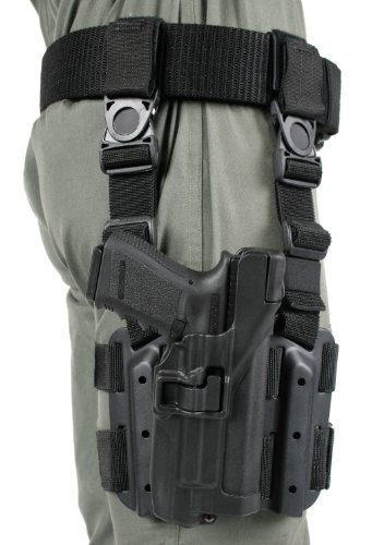 Blackhawk! Serpa Level 3 Light Bearing Tactical Holster For Xiphos Nt Light, Black/Size 00, Left Hand (Glock 17/19/22/23/31/32)
