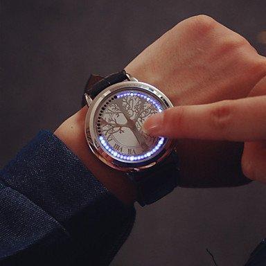 Grande quadrante principale di tocco coppia sullo schermo orologi di marca di orologi di lusso degli uomini le donne vestono orologi al ( Colore : Argento , Taglia : Taglia unica )
