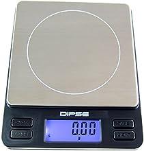 Dipse Digitale Laborwaage TP-500 x 0,01 - Feinwaage mit 0,01g genauer Auflösung Digitalwaage bis 500g