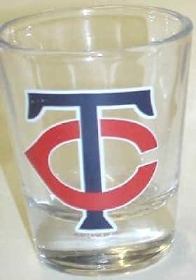 Minnesota Twins TC Logo Clear Shot Glass
