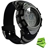 Ckeyin Waterproof Digital Compass Altimeter Barometer Thermometer Pressure Trend Watch