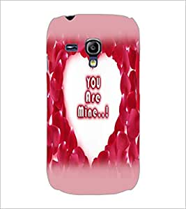 PrintDhaba Heart with Quote D-2254 Back Case Cover for SAMSUNG GALAXY S3 MINI (Multi-Coloured)