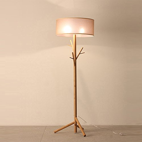 OAKLIGHTING Modern Tree Branch Wood Floor Lamps Lights Wooden Coat Rack Stand Lighting Height 68